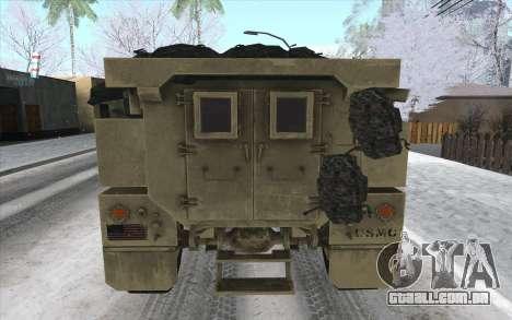 MRAP de BF4 para GTA San Andreas traseira esquerda vista
