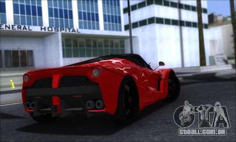 Ferrari LaFerrari v1.0 para GTA San Andreas traseira esquerda vista