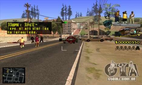 C-HUD Vagos Gang para GTA San Andreas quinto tela