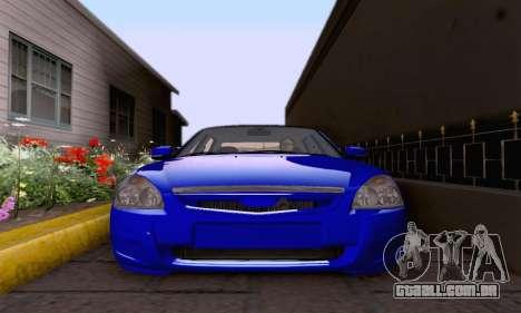 LADA 2170 para GTA San Andreas vista interior