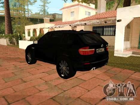 BMW X5 E70 2009 para GTA San Andreas traseira esquerda vista