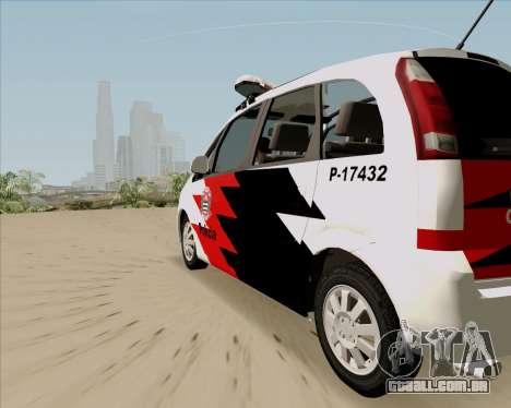 Chevrolet Meriva para GTA San Andreas esquerda vista