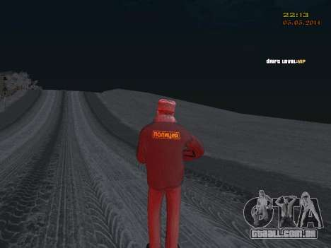 Pak DPS em um formato de inverno para GTA San Andreas quinto tela