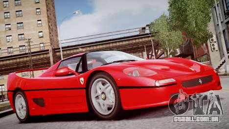 Ferrari F50 1995 para GTA 4 vista direita