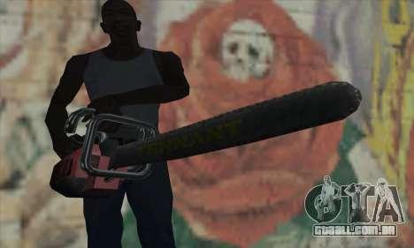 Caça ao homem Kettensäge para GTA San Andreas terceira tela
