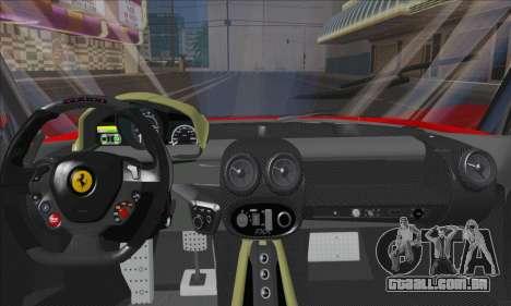 Ferrari LaFerrari v1.0 para GTA San Andreas vista interior