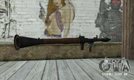 Lançador de foguetes para GTA San Andreas segunda tela