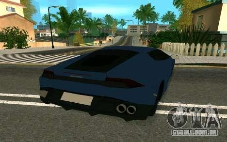 Lamborghini Huracane LP610-4 para GTA San Andreas vista direita
