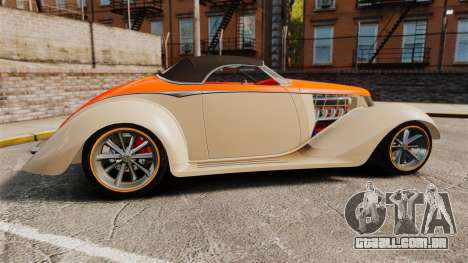 Ford Roadster 1936 Chip Foose 2006 para GTA 4 esquerda vista
