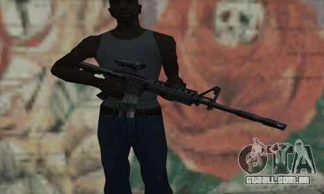 M4 RIS Acog Sight para GTA San Andreas terceira tela