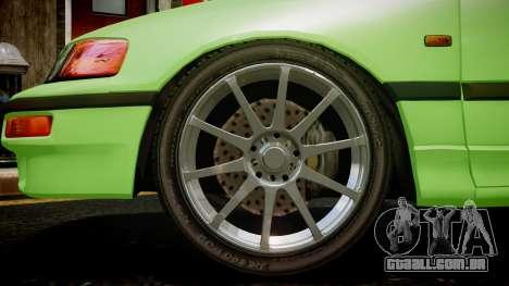 Honda CR-X para GTA 4 traseira esquerda vista