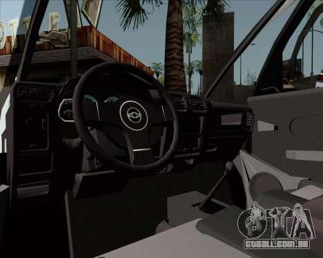 Chevrolet Meriva para GTA San Andreas vista traseira
