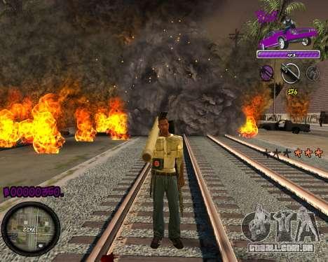 C-HUD Ballas Gang para GTA San Andreas