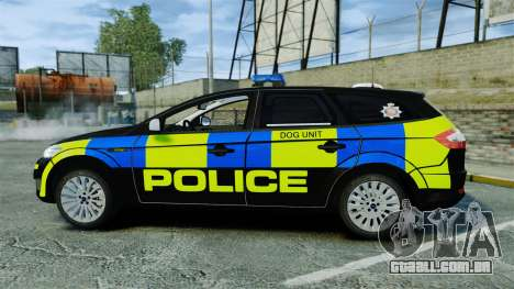 Ford Mondeo Estate Police Dog Unit [ELS] para GTA 4 esquerda vista