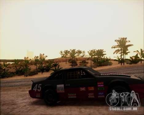 SA Graphics HD v 4.0 para GTA San Andreas por diante tela