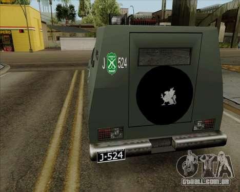 Zorrillo FF.EE para GTA San Andreas esquerda vista