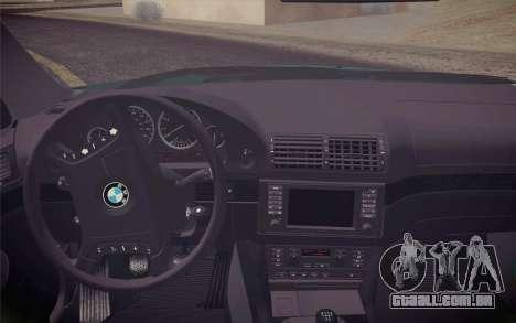 BMW M5 E39 528i Greenoxford para GTA San Andreas vista direita