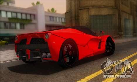 Ferrari LaFerrari v1.0 para GTA San Andreas vista traseira