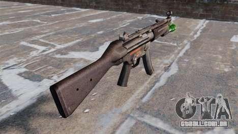Pistola-metralhadora HK MP5 com lanterna para GTA 4 segundo screenshot