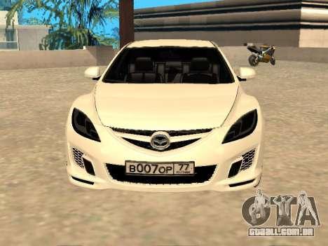 Mazda 6 2010 para GTA San Andreas traseira esquerda vista