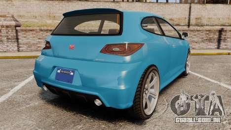 GTA V Dinka Blista para GTA 4 traseira esquerda vista