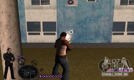 C-HUD Woozie para GTA San Andreas terceira tela