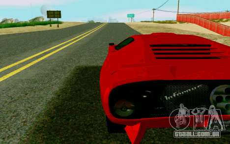 GTA V Pegassi Infernus para GTA San Andreas traseira esquerda vista