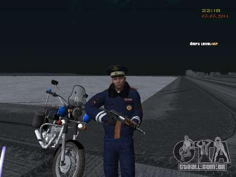 Pak DPS em um formato de inverno para GTA San Andreas oitavo tela