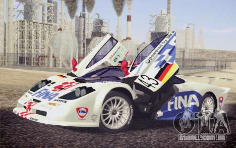 McLaren F1 GTR Longtail 22R para as rodas de GTA San Andreas