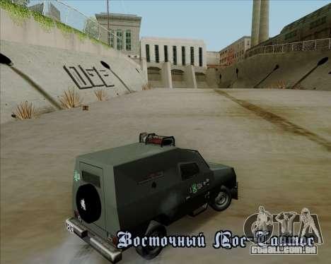 Zorrillo FF.EE para GTA San Andreas vista interior