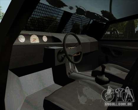 Zorrillo FF.EE para GTA San Andreas vista traseira