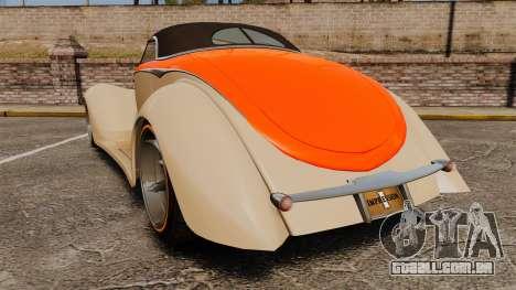 Ford Roadster 1936 Chip Foose 2006 para GTA 4 traseira esquerda vista