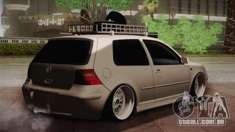 Volkswagen Golf IV Hellaflush para GTA San Andreas traseira esquerda vista