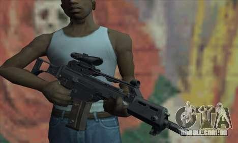 G36C para GTA San Andreas terceira tela
