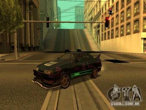 Vinis para Elegy para GTA San Andreas traseira esquerda vista