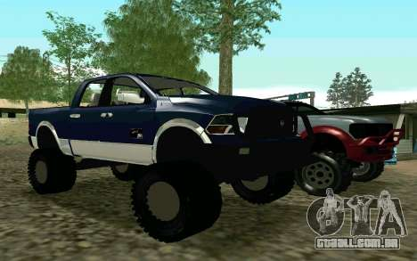 Dodge Ram 4x4 para GTA San Andreas esquerda vista