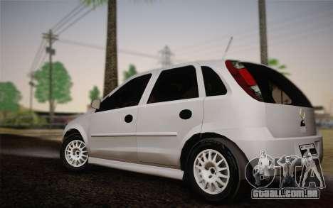 Chevrolet Corsa VHC para GTA San Andreas esquerda vista