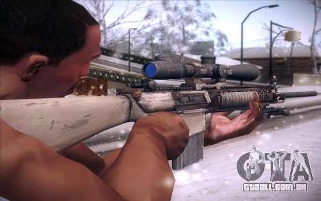 M110 para GTA San Andreas segunda tela