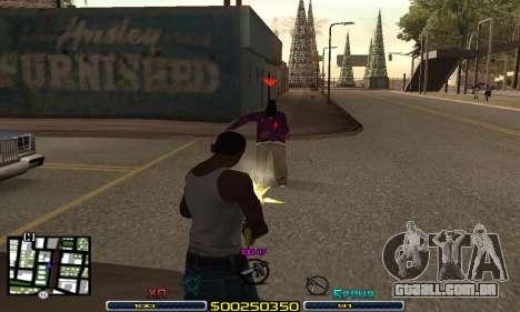 C-HUD Swat para GTA San Andreas terceira tela