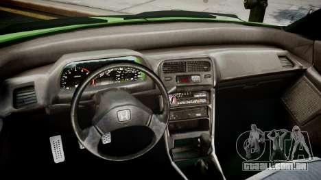 Honda CR-X para GTA 4 vista direita