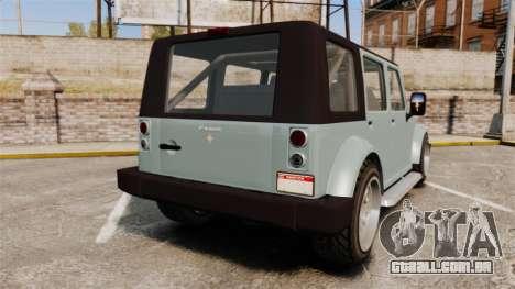 GTA V Canis Mesa para GTA 4 traseira esquerda vista