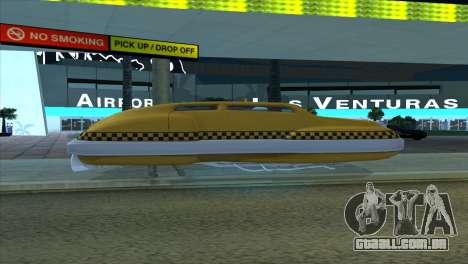 Taxi 5 Element para GTA San Andreas vista interior