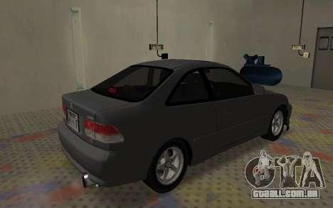 Honda Civic JDM para GTA San Andreas traseira esquerda vista