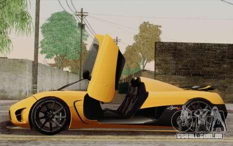 Koenigsegg Agera R para as rodas de GTA San Andreas