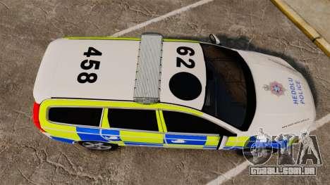 Volvo V70 South Wales Police [ELS] para GTA 4 vista direita