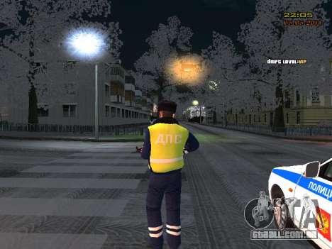 Pak DPS em um formato de inverno para GTA San Andreas terceira tela