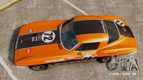 Chevrolet Corvette C2 1967 para GTA 4 vista direita