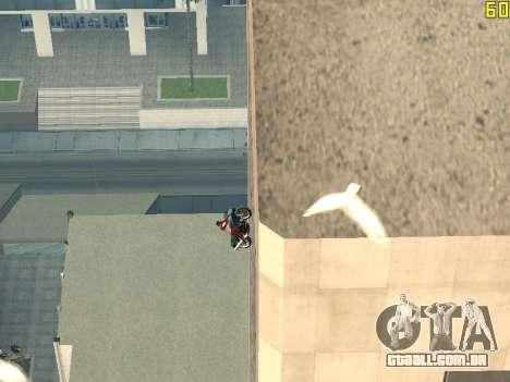 Equitação em paredes e tectos v 2.0. para GTA San Andreas quinto tela