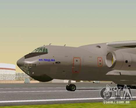 Il-76md-90 (IL-476) para GTA San Andreas traseira esquerda vista