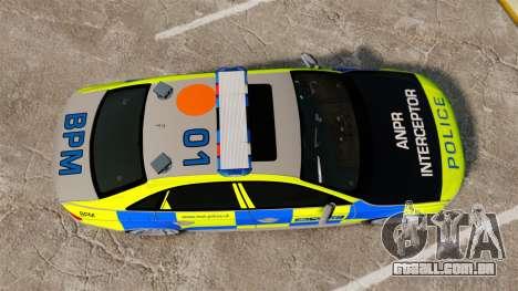 Audi S4 ANPR Interceptor [ELS] para GTA 4 vista direita